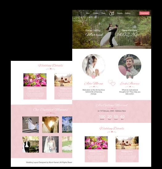 Wedding website template cakewp wedding website template junglespirit Choice Image