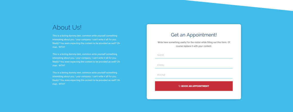 Free Landing Page Elementor Template for Medical & Clinic