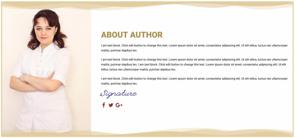 Free landing page elementor template for ebook cakewp author section maxwellsz