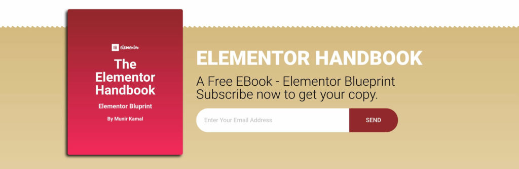 Free landing page elementor template for ebook cakewp footer section pronofoot35fo Choice Image
