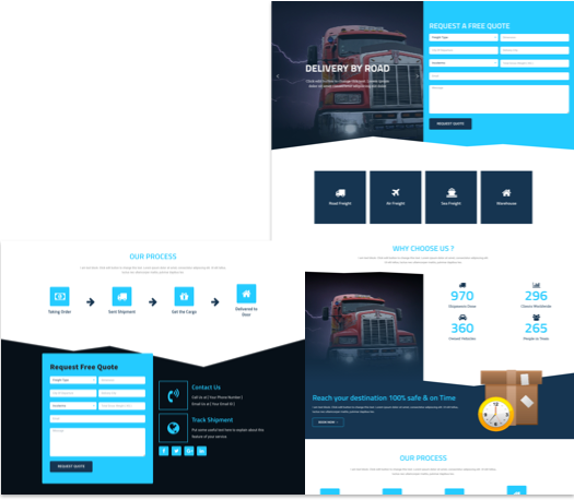 Free Landing Page Elementor Template for Logistics | CakeWP