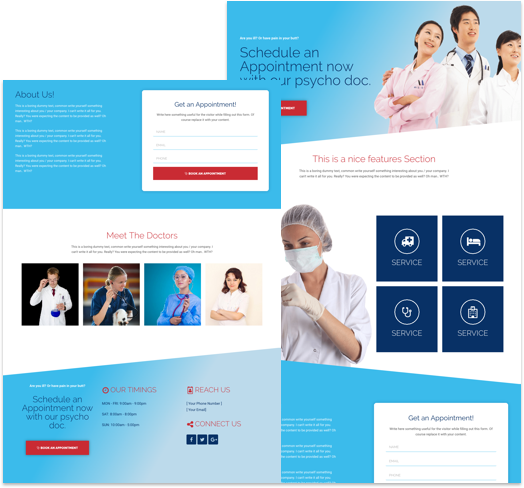 Free Landing Page Elementor Template For Medical Clinic CakeWP - Medical landing page template